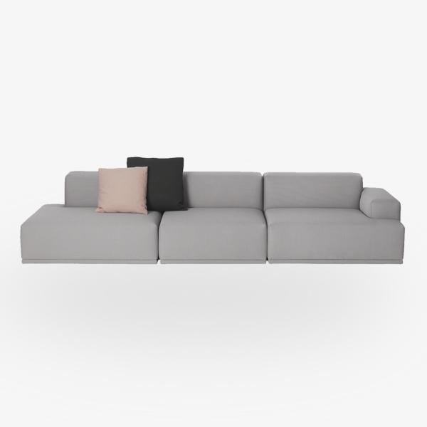 LA Connect 3 seater open armrest