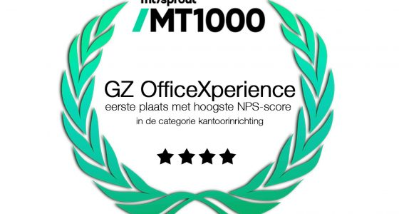 MT/Sprout MT1000 GZ haalt de hoogste NPS-score in de categorie kantoorinrichting!